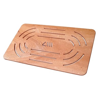 Pedana per doccia in compensato marino in legno  naturale 57 x 96 cm