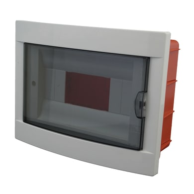 Centralino a incasso 8 moduli IP40 grigio