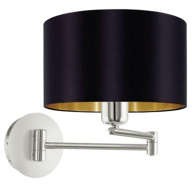 Applique glamour Maserlo nero e oro, in acciaio inossidabile,  D. 23 cm 23 cm, EGLO