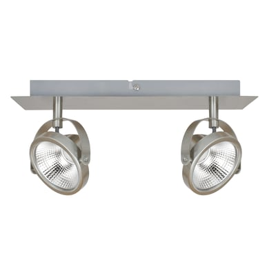 Barra di faretti Farra nickel, in alluminio, LED integrato 6.4W 800LM IP20 INSPIRE