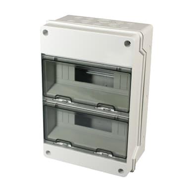Centralino a parete 24 moduli IP65 grigio
