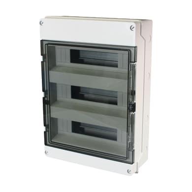 Centralino a parete 36 moduli IP65 grigio