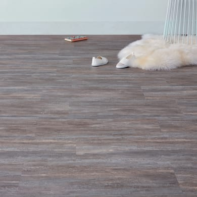 Pavimento pvc flottante clic+ Old stone Sp 4 mm marrone