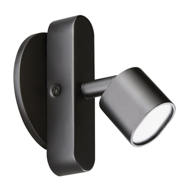 Faretto completo Flut nero, in ferro, LED integrato 5.0W 220LM IP20 INSPIRE