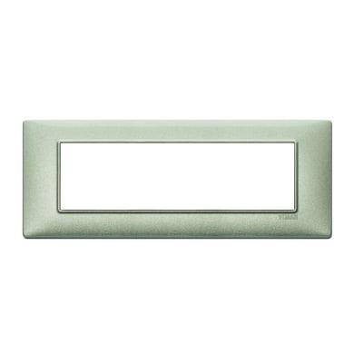 Placca Plana VIMAR 7 moduli verde metallizzato