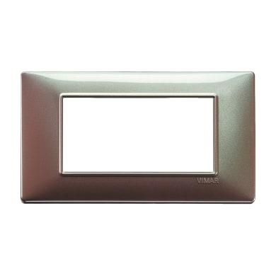 Placca VIMAR Plana 4 moduli marrone micalizzato