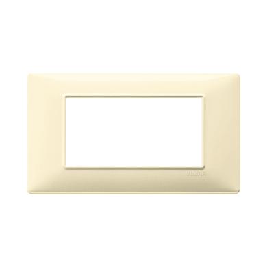 Placca VIMAR Plana 4 moduli crema