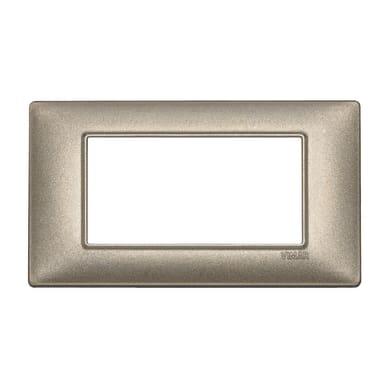 Placca Plana VIMAR 4 moduli bronzo metallizzato