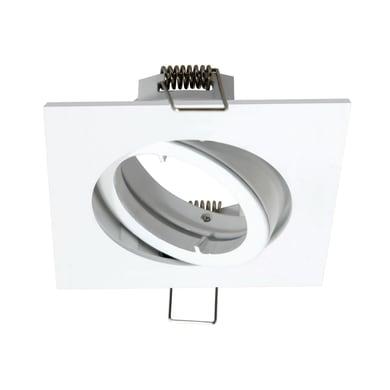 Ghiera per faretto da incasso orientabile quadrato Bama  in Alluminio bianco, GU10 IP23 INSPIRE