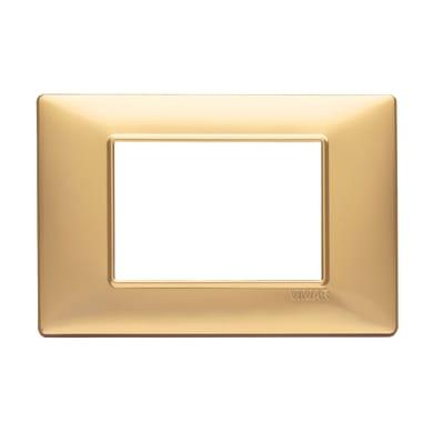 Placca VIMAR Plana 3 moduli oro opaco