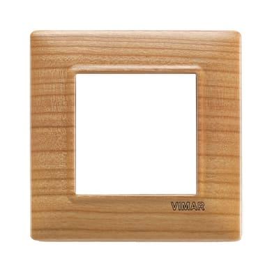 Placca Plana VIMAR 2 moduli ciliegio