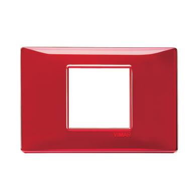 Placca Plana VIMAR 2 moduli rubino