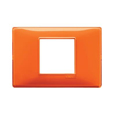 Placca Plana VIMAR 2 moduli arancio