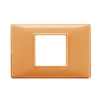 Placca VIMAR Plana 2 moduli ambra