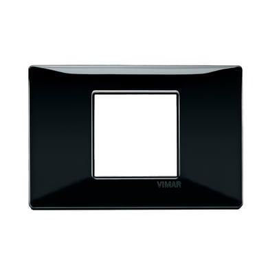 Placca Plana VIMAR 2 moduli nero