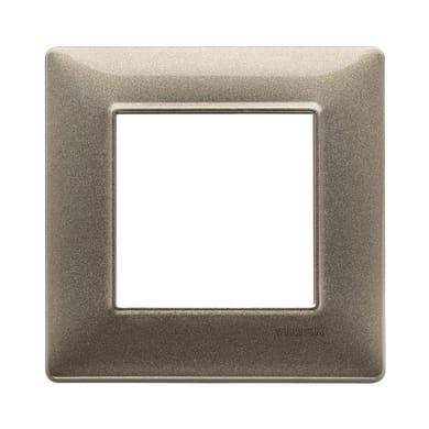 Placca Plana VIMAR 2 moduli bronzo metallizzato