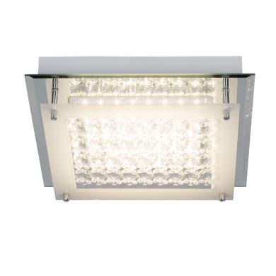 Plafoniera barocco Diamond LED integrato cromo, in metallo, 28x28 cm, INSPIRE