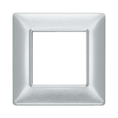 Placca VIMAR Plana 2 moduli alluminio spazzolato