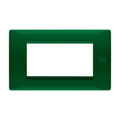 Placca Nea Flexa SIMON URMET 4 moduli verde