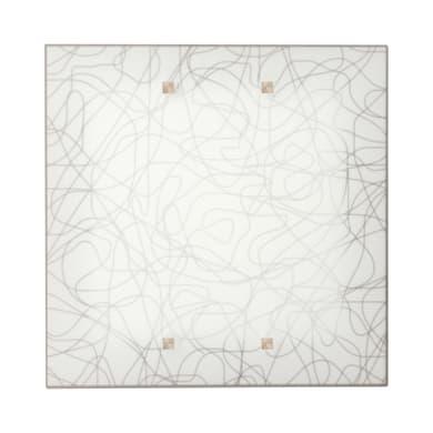 Plafoniera classico Gemelli bianco, in vetro, 35x35 cm,
