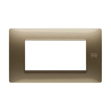 Placca Nea Flexa SIMON URMET 4 moduli bronzo