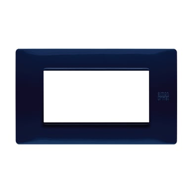 Placca Nea Flexa SIMON URMET 4 moduli blu