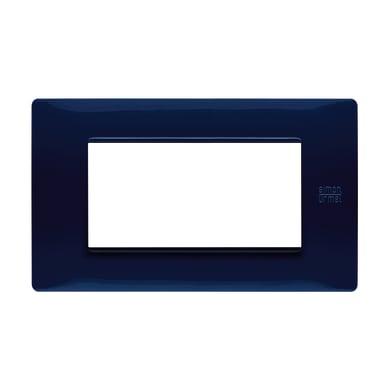 Placca SIMON URMET Nea Flexa 4 moduli blu
