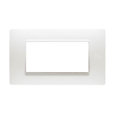 Placca Nea Flexa SIMON URMET 4 moduli bianco