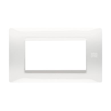 Placca Nea Flexa SIMON URMET 4 moduli bianco ghiaccio