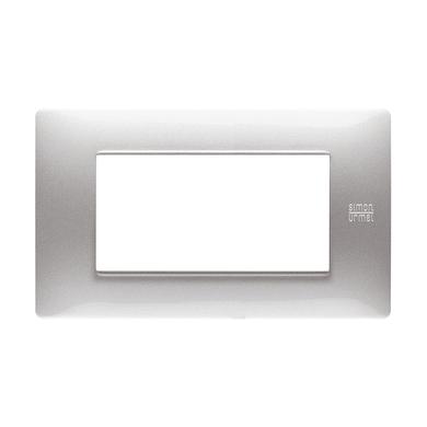 Placca Nea Flexa SIMON URMET 4 moduli alluminio