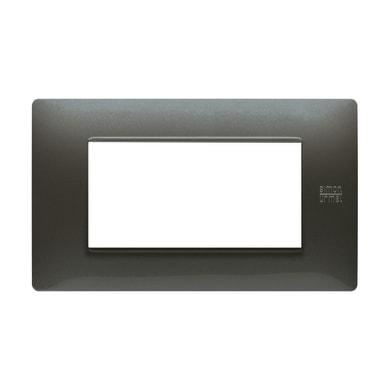 Placca Nea Flexa SIMON URMET 4 moduli acciaio scuro