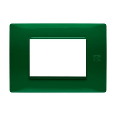 Placca Nea Flexa SIMON URMET 3 moduli verde
