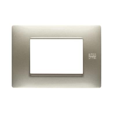 Placca SIMON URMET Nea Flexa 3 moduli titanio