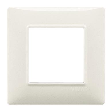 Placca VIMAR Plana 2 moduli bianco granito