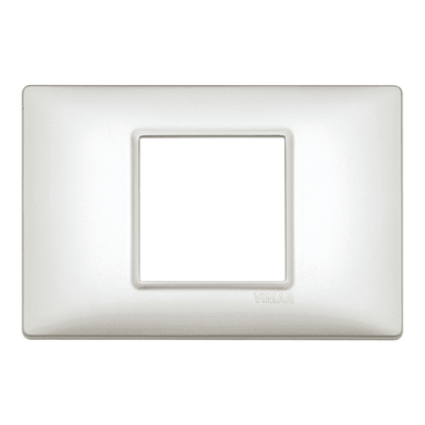 Placca VIMAR Plana 2 moduli argento perlato