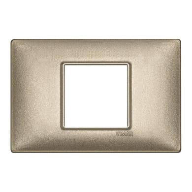Placca VIMAR Plana 2 moduli bronzo metal