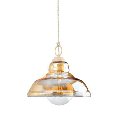 Lampadario Billy ambra, in vetro, diam. 27.5 cm, E27 MAX42W IP20