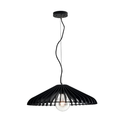 Lampadario Calder  nero, in legno, diam. 50 cm, E27 MAX42W IP20