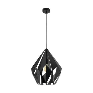 Lampadario Carlton  nero, in metallo, diam. 38.5 cm, E27 MAX60W IP20 EGLO