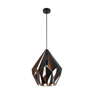 Lampadario Carlton  marrone, nero, in acciaio inossidabile, diam. 38.5 cm, E27 MAX60W IP20 EGLO