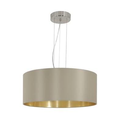 Lampadario Glamour Maserlo oro, tortora in acciaio inossidabile, D. 53 cm, 3 luci, EGLO