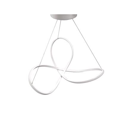 Lampadario Contemporaneo Smilla LED integrato bianco, in alluminio, D. 60 cm