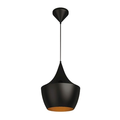 Lampadario Design Metal Black nero, oro in metallo, L. 23 cm