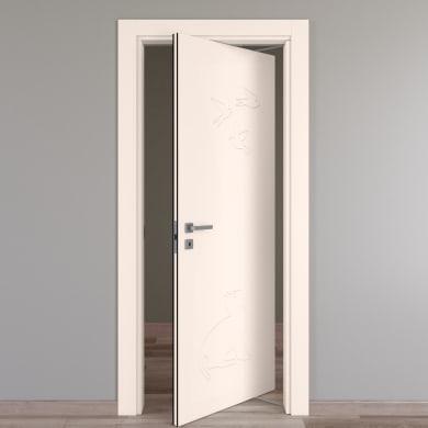 Porta rototraslante Catbird crema L 70 x H 210 cm destra
