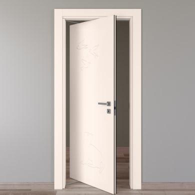 Porta rototraslante Catbird crema L 70 x H 210 cm sinistra