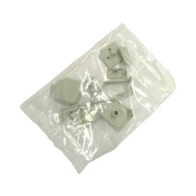 Giunto di terminazione pvc grigio L 2.7 x Sp 1.4 cm