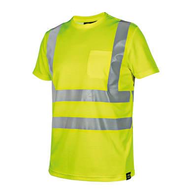 T-shirt da lavoro DIADORA UTILITY HV tg l giallo fluo