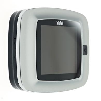 Spioncino digitale per porta blindata YALE con memoria interna argento