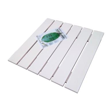 Pedana per doccia Ecotech in legno  bianco 49 x 49 cm