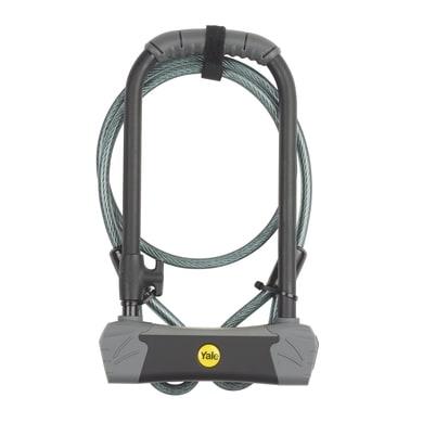 Blocco con chiave per bicicletta flessibile YALE L 1.2 m x Ø 10 mm